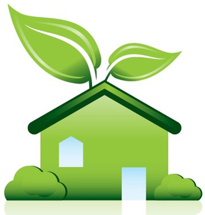 Green Home w-Leaf